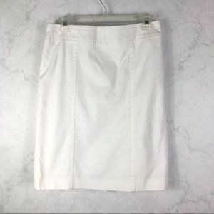 [Talbots] Classic White Structured Skirt